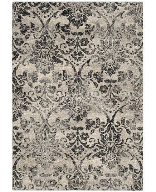 "Safavieh Retro Cream and Gray 2'6"" x 4' Area Rug"