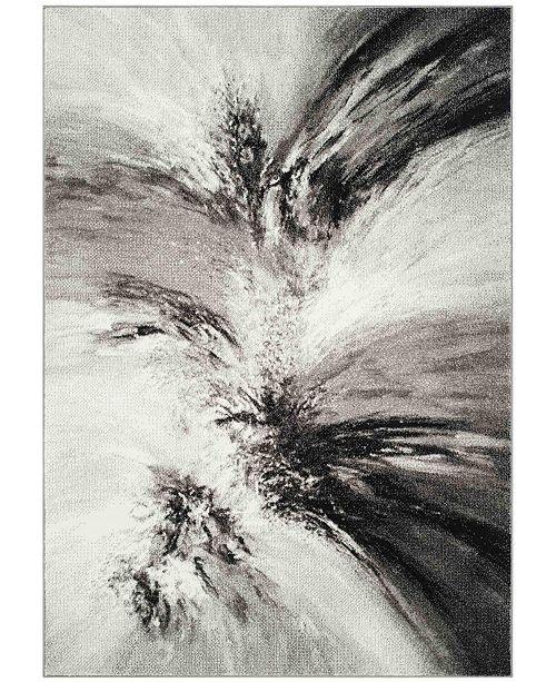 """Safavieh Glacier Gray and Multi 2'7"""" x 5' Area Rug"""