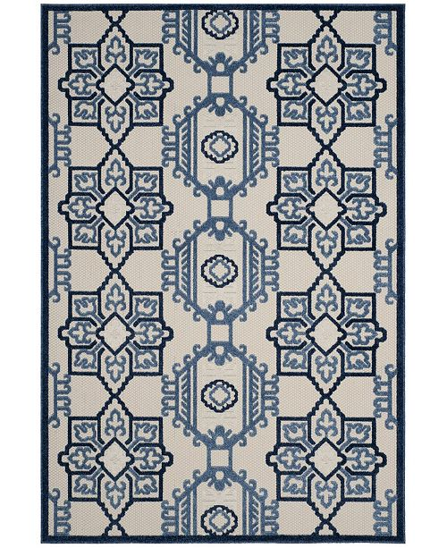 """Safavieh Cottage Ivory and Blue 8' x 11'2"""" Area Rug"""