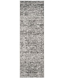 """Adirondack Black and Silver 2'6"""" x 10' Runner Area Rug"""