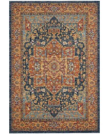 "Safavieh Evoke Blue and Orange 6'7"" x 9' Area Rug"