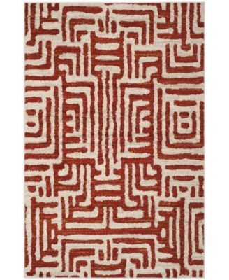 Amsterdam Ivory and Terracotta 4' x 6' Area Rug