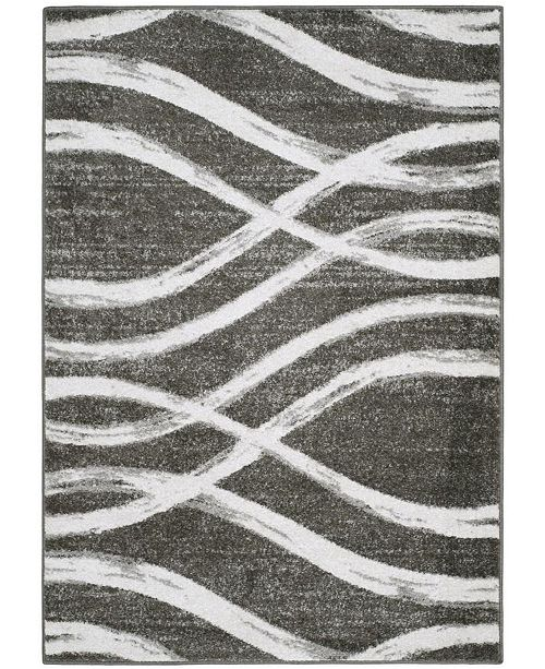 Safavieh Adirondack Charcoal and Ivory 6' x 9' Area Rug