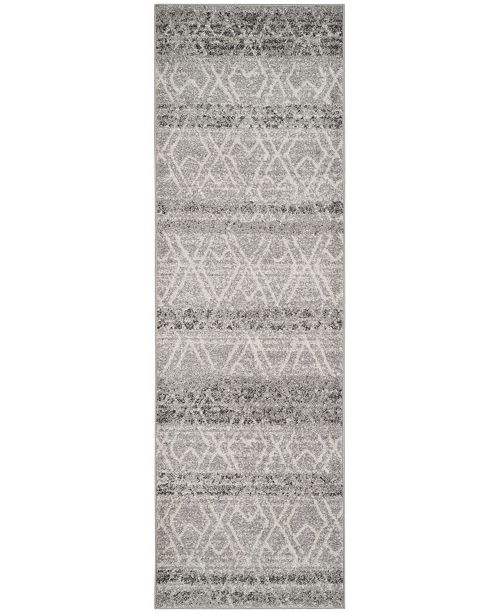 "Safavieh Adirondack Silver and Ivory 2'6"" x 12' Runner Area Rug"