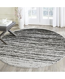 Safavieh Adirondack Silver and Black 4' x 4' Round Area Rug