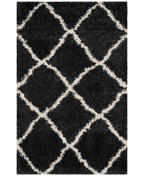 """Safavieh Belize Charcoal and Ivory 2'3"""" x 5' Area Rug"""