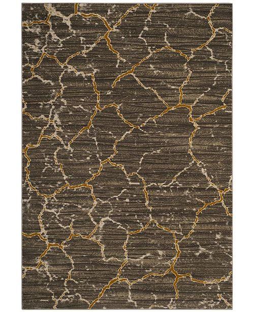 Safavieh Porcello Dark Gray and Yellow 6' x 9' Area Rug