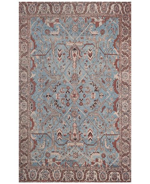 Safavieh Classic Vintage Blue and Red 4' x 6' Area Rug