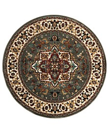 Summit Gray and Ivory 4' x 4' Round Area Rug