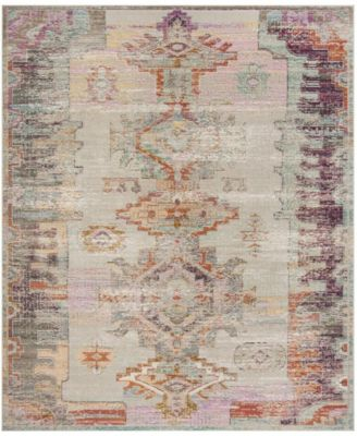 Crystal Light Gray and Purple 10' x 14' Area Rug