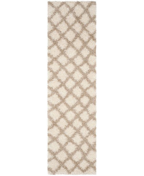 "Safavieh Dallas Ivory and Beige 2'3"" x 12' Runner Area Rug"