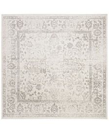 Adirondack Ivory and Silver 12' x 12' Square Area Rug