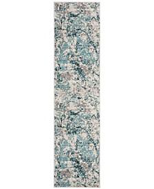 Skyler Blue and Ivory 2' x 8' Runner Area Rug