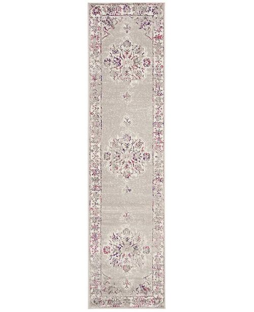 Safavieh Skyler Grey and Pink 2' x 8' Runner Area Rug