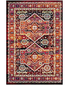 Cherokee Black and Orange 6' x 9' Area Rug