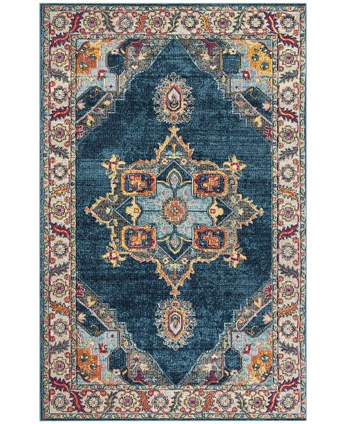 "Safavieh Merlot Blue and Multi 5'1"" x 7'6"" Area Rug"