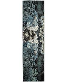"Glacier Blue and Multi 2'2"" x 12' Runner Area Rug"