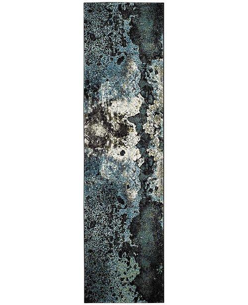 "Safavieh Glacier Blue and Multi 2'2"" x 12' Runner Area Rug"