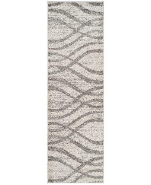 "Safavieh Adirondack Cream and Grey 2'6"" x 10' Runner Area Rug"