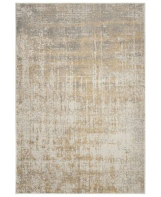 Adirondack Creme and Gold 6' x 9' Area Rug