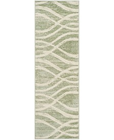 "Adirondack Sage and Cream 2'6"" x 12' Runner Area Rug"