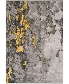 Adirondack Gray and Yellow 10' x 14' Area Rug