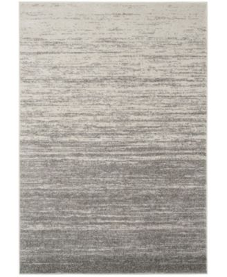 Adirondack Light Gray and Gray 10' x 10' Square Area Rug