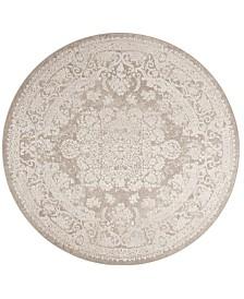 Safavieh Reflection Beige and Cream 5' x 5' Round Area Rug