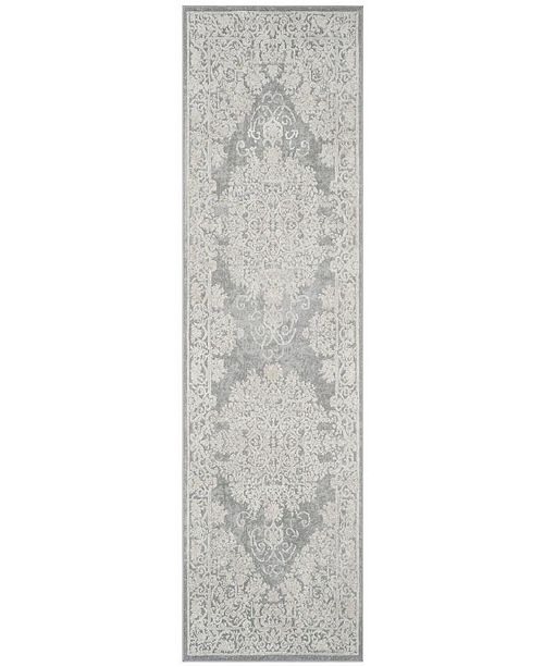 "Safavieh Reflection Light Grey and Cream 2'3"" x 10' Runner Area Rug"