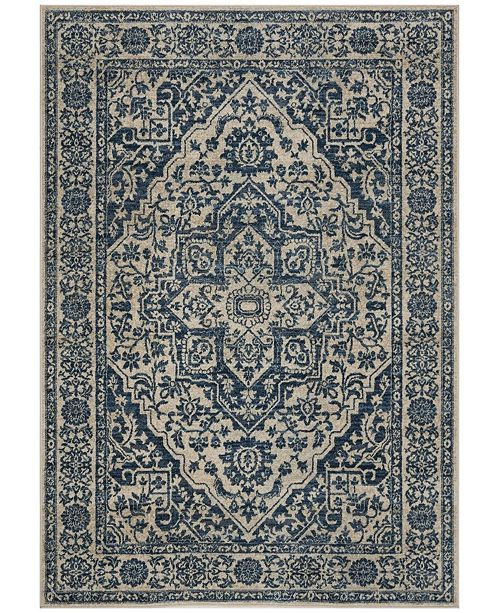 Safavieh Brentwood Navy and Light Gray 6' x 9' Area Rug