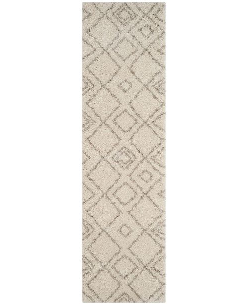 "Safavieh Arizona Shag Ivory and Beige 2'3"" x 10' Runner Area Rug"