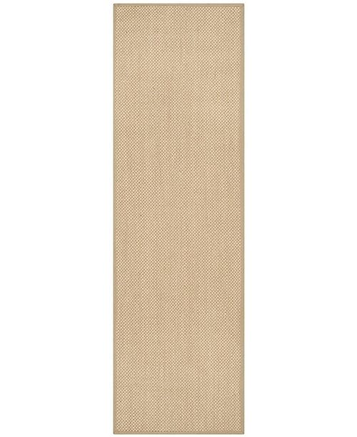 "Safavieh Natural Fiber Maize and Linen 2'6"" x 12' Sisal Weave Runner Area Rug"