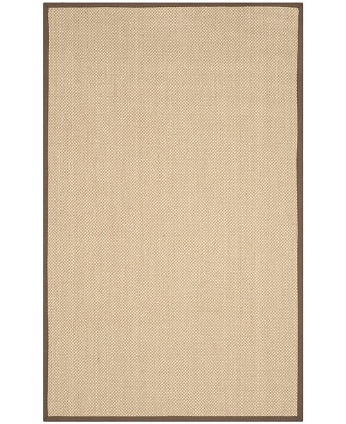 Safavieh Natural Fiber Maize and Brown 4' x 6' Sisal Weave Area Rug