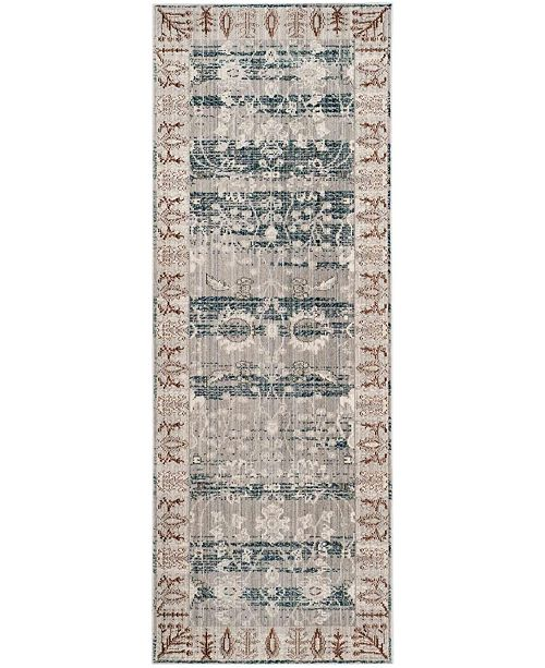 "Safavieh Valencia Dark Grey and Light Grey 2'3"" x 6' Runner Area Rug"