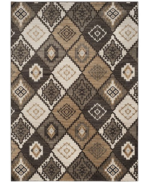 Safavieh Vintage Black and Ivory 8' x 11' Area Rug
