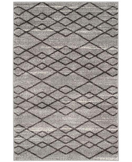 Safavieh Tunisia Gray and Black 4' x 6' Area Rug