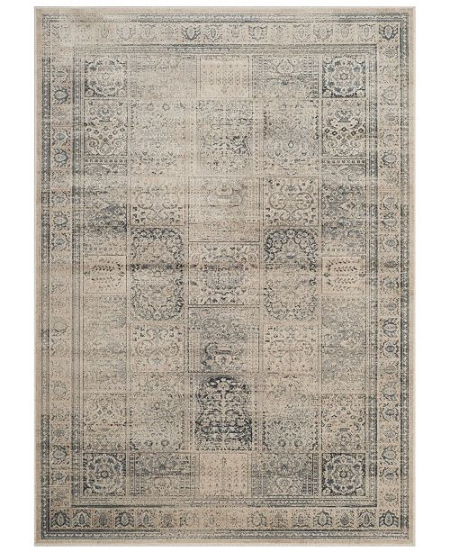 "Safavieh Vintage Stone and Blue 5'3"" x 7'6"" Area Rug"