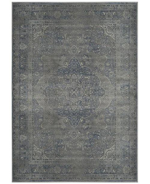 "Safavieh Vintage Light Blue and Light Gray 6'7"" x 9'2"" Area Rug"
