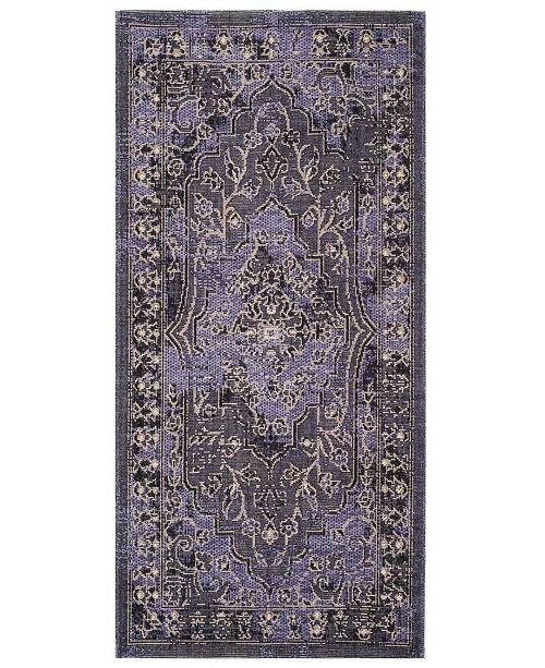 Safavieh Palazzo Purple and Black 4' x 6' Area Rug