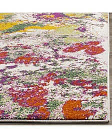 Watercolor Light Green and Rose 8' x 10' Area Rug