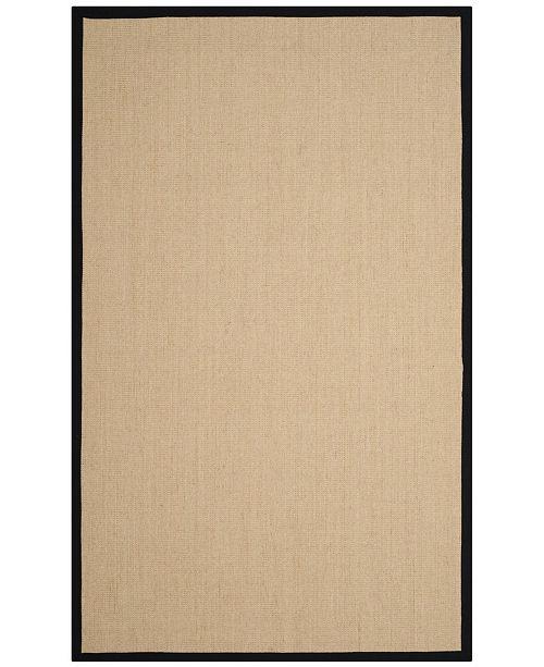 Safavieh Natural Fiber Beige and Black 4' x 6' Sisal Weave Area Rug