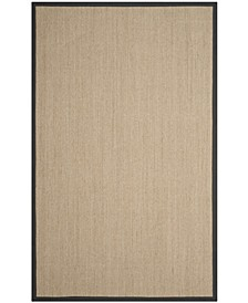 Natural Fiber Natural and Dark Gray 6' x 9' Sisal Weave Rug