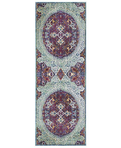 Safavieh Sutton Purple and Turquoise 3' x 8' Area Rug