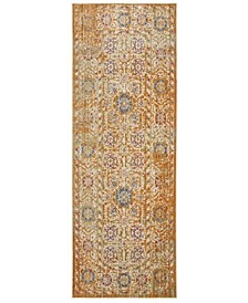 Sutton Gold and Ivory 3' x 8' Area Rug