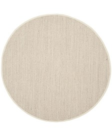 Safavieh Natural Fiber Marble and Beige 4' x 4' Sisal Weave Round Area Rug