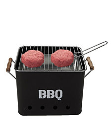 Mind Reader Small Metal Portable Charcoal Grill