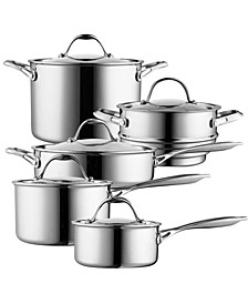 10-Piece Multi-Ply Clad Cookware Set, Stainless Steel