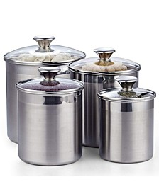 4-Piece Stainless Steel Canister Set