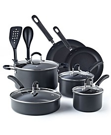 12-Piece Nonstick Hard Anodized Cookware Set