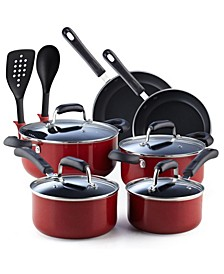 12-Piece Nonstick Stay Cool Handle Cookware Set, Marble Pattern